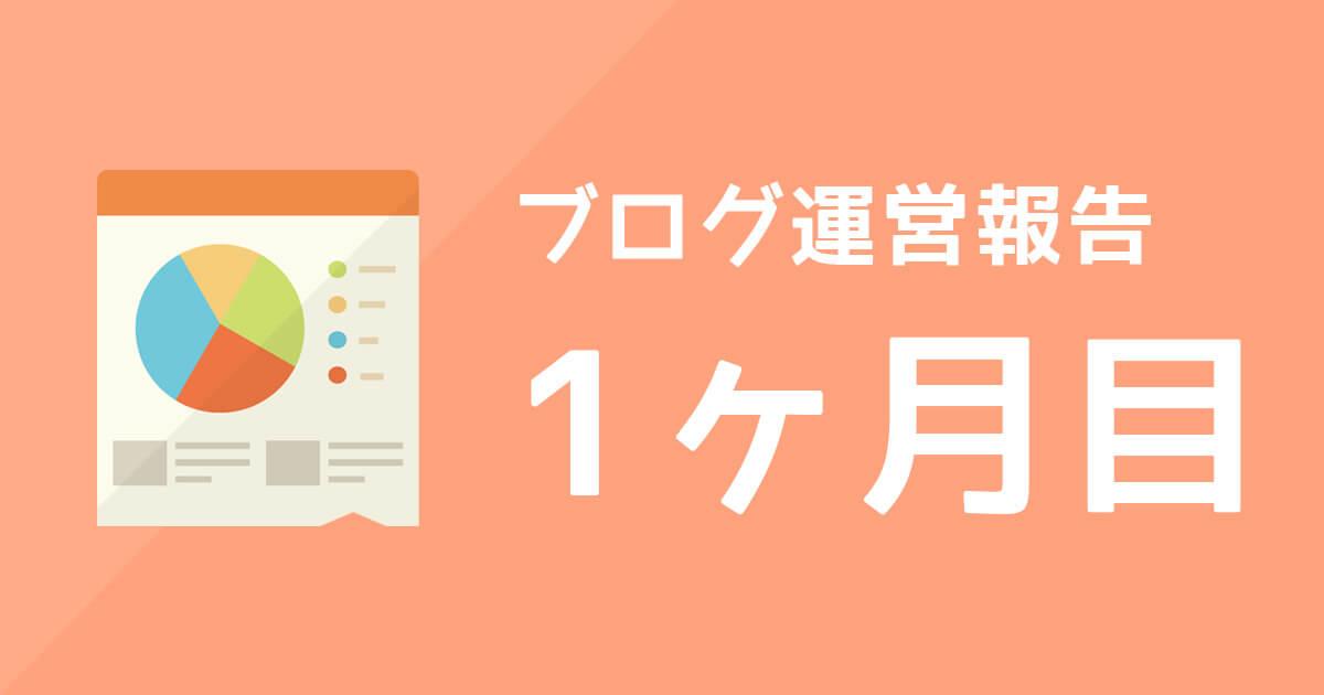 【ブログ運営報告】1ヶ月目のPV数と収益