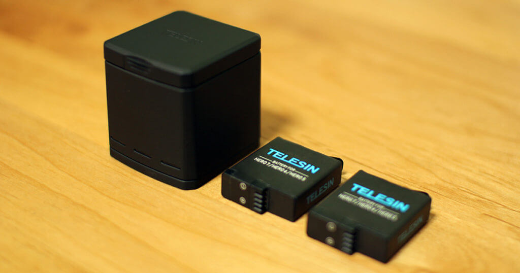 【GoPro Hero8】TELESIN 互換バッテリー、充電器レビュー