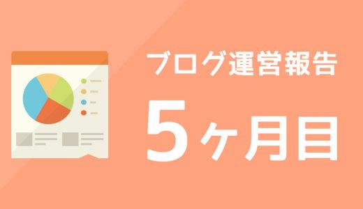 【ブログ運営報告】5ヶ月目のPV数と収益