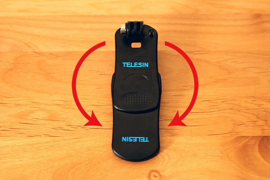 カメラを取り付ける部分は、360度回転させることができます。