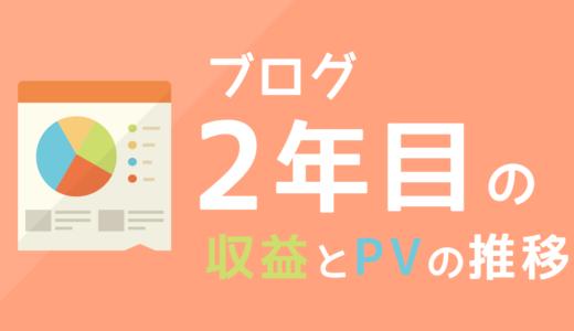 ブログ2年目の運営報告 収益とPVはどんな感じ?